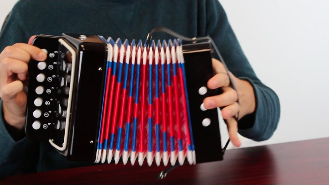 PIANO ACCORDION BLUE OR RED  CHILDS  MUSIC KIDS HERO STARTER INSTRUMENT