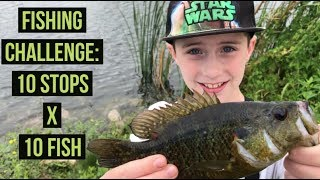 Fishing Challenge: 10 Fish x 10 Stops Microfishing