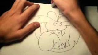 How to draw Taz