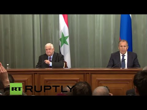 LIVE: Lavrov and Syrian FM Walid al-Moallem hold joint press conference in Moscow (ENGLISH)