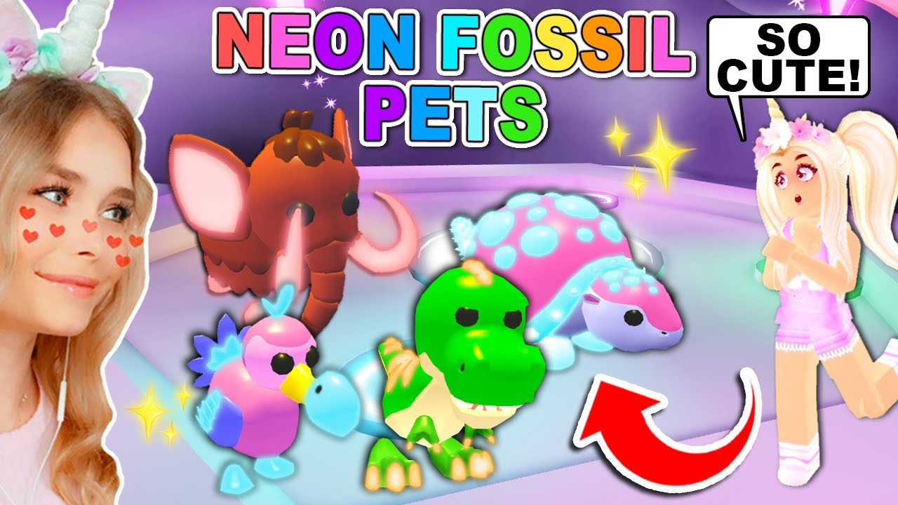 Making The New Dinosaur Pets Neon In Adopt Me Roblox Youtube