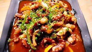 [EngSub] Vlog 04 | Bạch Tuộc Xào Cay (Spicy Stir Fried Octopus), Món Hao Cơm Tốn Của