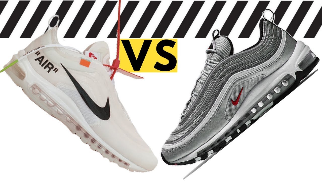 new style 77904 601fd Off White Nike Air Max 97 comparison Air Max 97 Silver Bullet - Off White Virgil  Abloh Nike The Ten