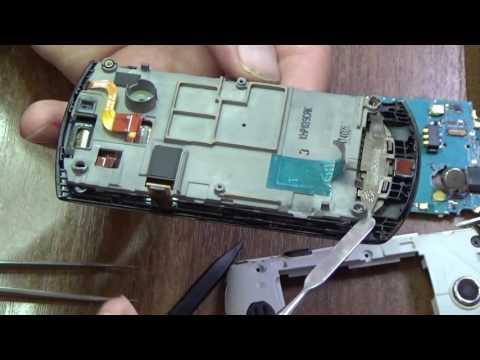 Разборка Samsung S5620 с целью замены микрофона (Samsung S5620 disassembly)