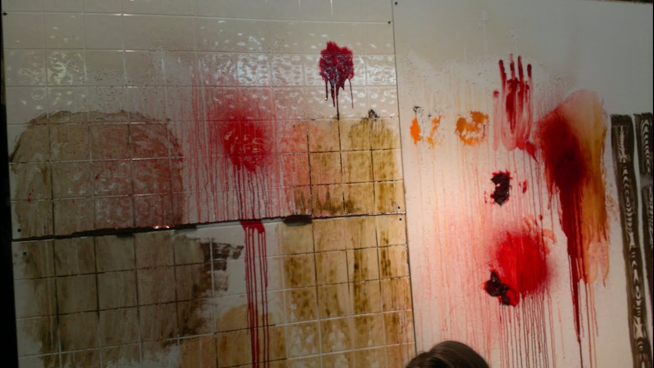 Painting haunted house walls youtube for A mural is painted on a