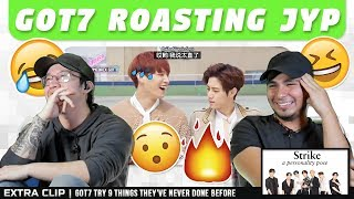 NSD REACT   GOT7 roasting JYP (EXTRA: GOT7 Try 9 Things They've Never Done Before)