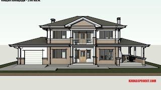 Двухэтажный каркасный дом 12 х 20,2 м. Проект КД-32
