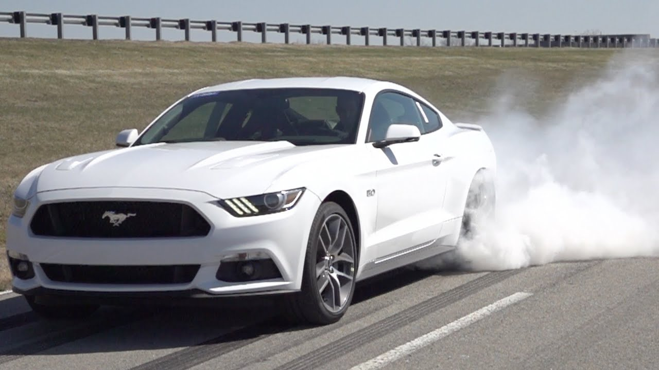 2015 Ford Mustang Gt Line Lock Burnout Feature Youtube