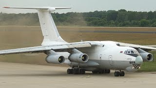 ILYUSHIN IL-76 DEPARTURE with FULL ENGINE START UP sound (Volume up!, 4K)