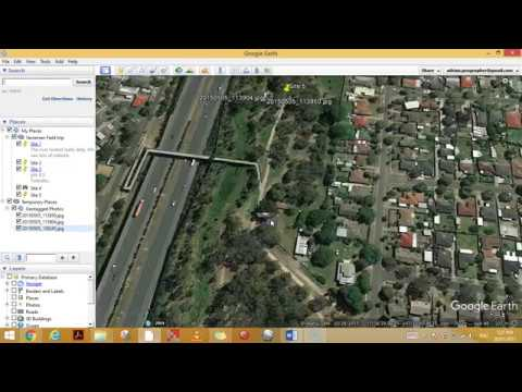 Uploading geotagged photos to Google Earth - YouTube