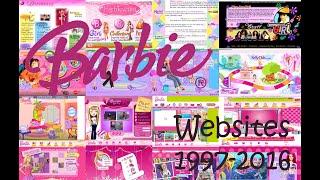 Barbie Websites Through The Years  1997-2016