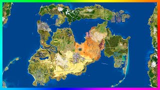 updated huge gta 6 gta 5 city expansion concept map with detailed cities features more gta 5