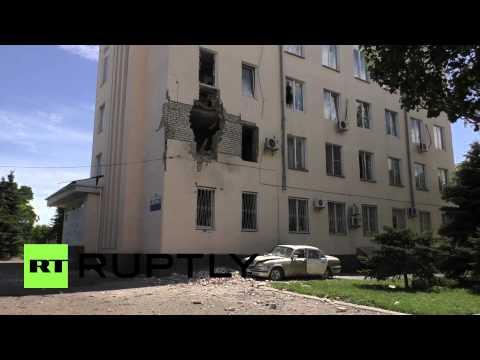 Ukraine: Lugansk scarred by heavy bombing