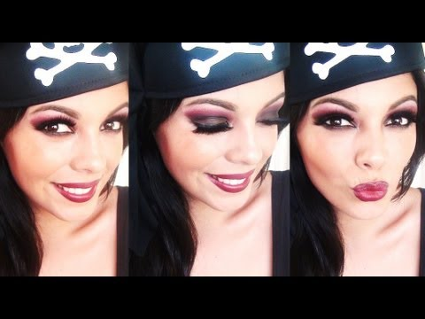 sexy pirate makeup tutorial halloween youtube. Black Bedroom Furniture Sets. Home Design Ideas