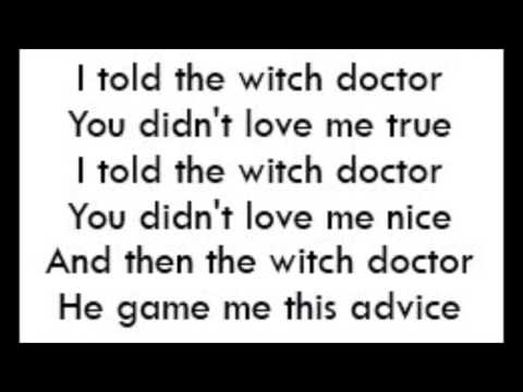 Witch Doctor - Cartoons (Lyrics)