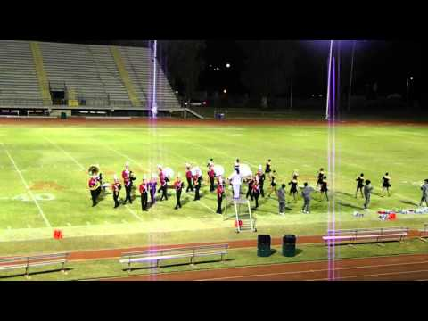 Cortez High School Marching Band GUHSD Exhibition at GCC 28Oct13