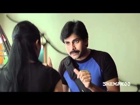 Bhoomika Chawla  Pawan Kalyan - Kushi Movie scenes - Attharintiki Daaredhi Hero Pawan Kalyan
