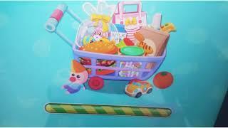 Playing baby bus shopping game app