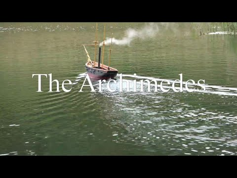 SS Archimedes, model steam boat by William Mowll