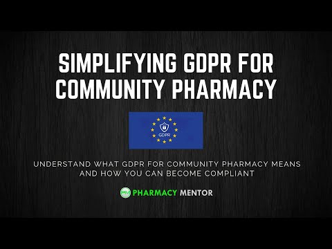 Simplifying GDPR for Community Pharmacy