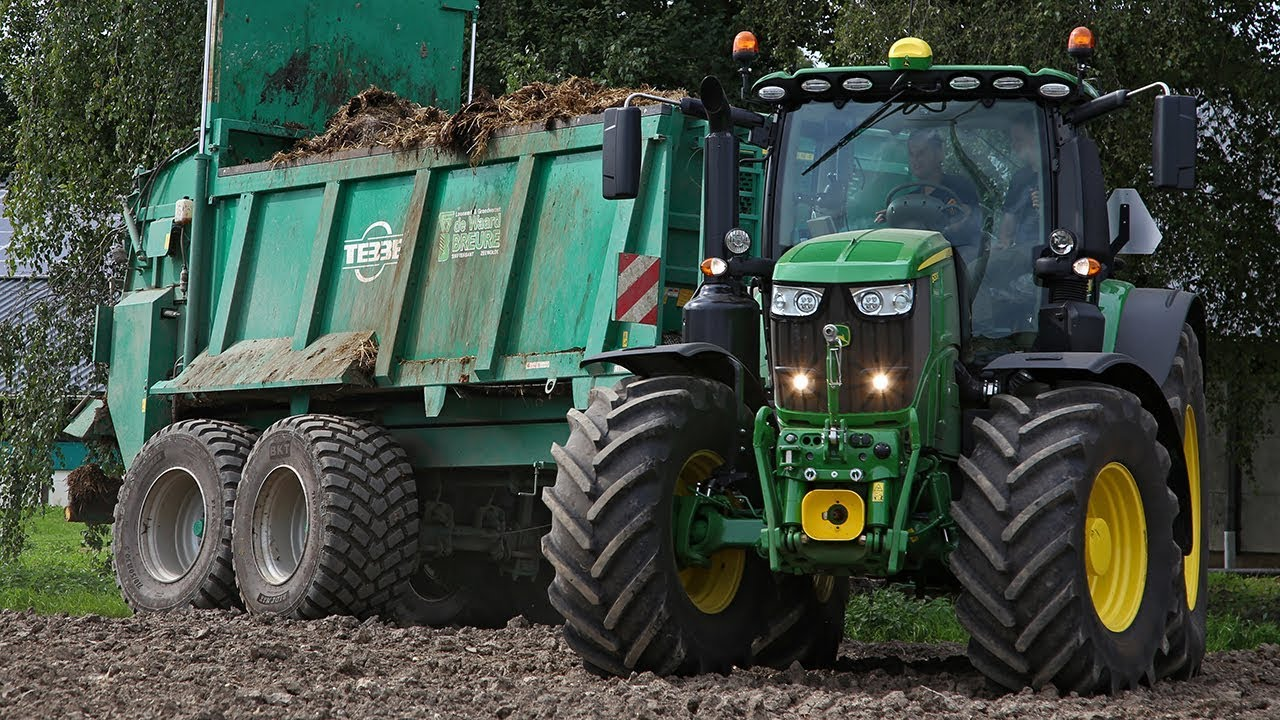 new john deere 6250r tebbe in action muck spreading youtube. Black Bedroom Furniture Sets. Home Design Ideas