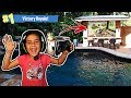 MY 5 YEAR OLD LITTLE SISTER GOT FORTNITE VICTORY ROYALE IN A POOL!! (5 YEAR OLD PLAYS LIKE NINJA!)