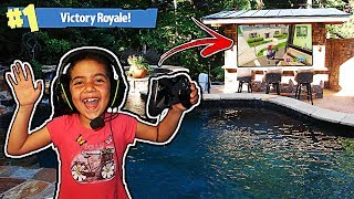 Video MY 5 YEAR OLD LITTLE SISTER GOT FORTNITE VICTORY ROYALE IN A POOL!! (5 YEAR OLD PLAYS LIKE NINJA!) download MP3, 3GP, MP4, WEBM, AVI, FLV Oktober 2018