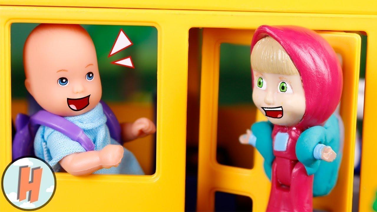 Masha y el Oso Juguetes 🐻 Masha y bebé van en el bus 🚍