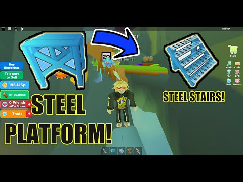 HOW TO GET STEEL PLATFORM AND STAIRS BLUEPRINTS - LUMBERJACK LEGENDS