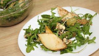 Изысканный салат с рукколой и грушей