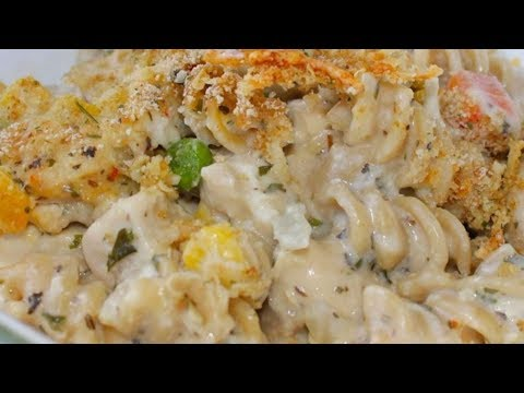 Chicken and Pasta Casserole with Mixed Vegetables-Good recipes