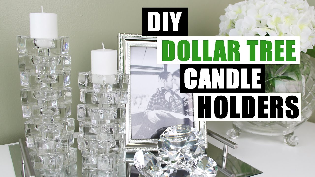 Diy dollar tree candle holders dollar store diy candlesticks decor diy glam room decor youtube - Dollar store home decor ideas pict ...