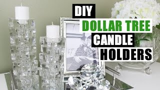 DIY DOLLAR TREE CANDLE HOLDERS | Dollar Store DIY Candlesticks Decor | DIY Glam Room Decor