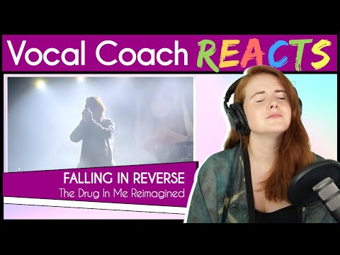 Vocal Coach reacts to Falling in Reverse - The Drug in Me Reimagined (Ronnie Radke Live)