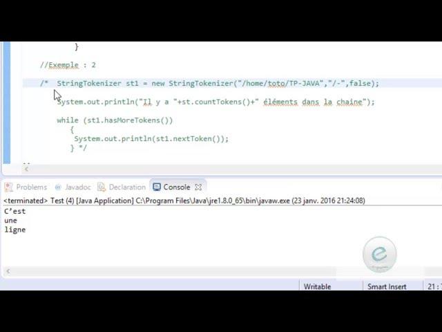 Java : StringTokenizer