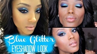 How to Rock Blue Eyeshadow w/ Glitter