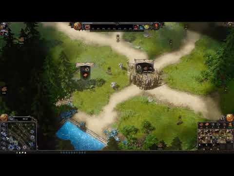 SpellForce * hours in the game vs Ai speed match(RTS BASE BUILDING GAME)  