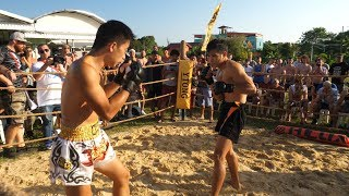 CHINESE MAN run into Muay Thai Fighter !!!!