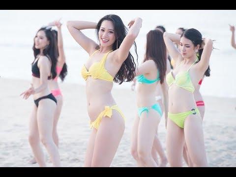 Quay lén gái xinh tắm biển | Gái xinh bikini tắm biển