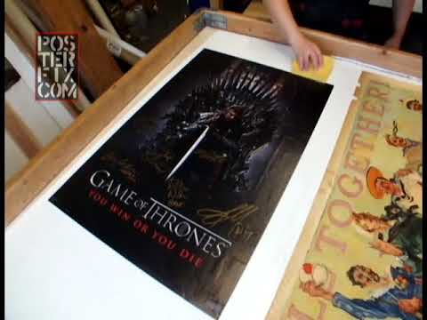 Game Of Thrones -  Autographed Poster - Linen Backed