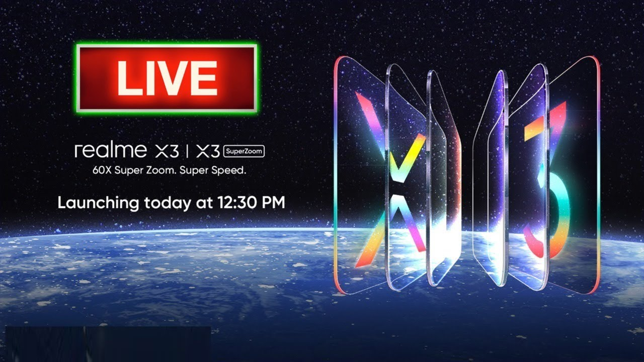 Realme X3 Realme X3 Superzoom Live Launch Event In India