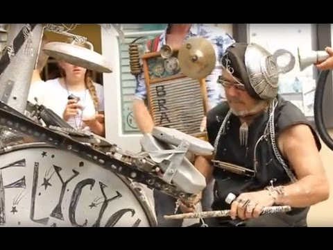 Mobile Percussionist Clyde Casey & Washboard Brad JAM with Jazz Campers @ French Quarter