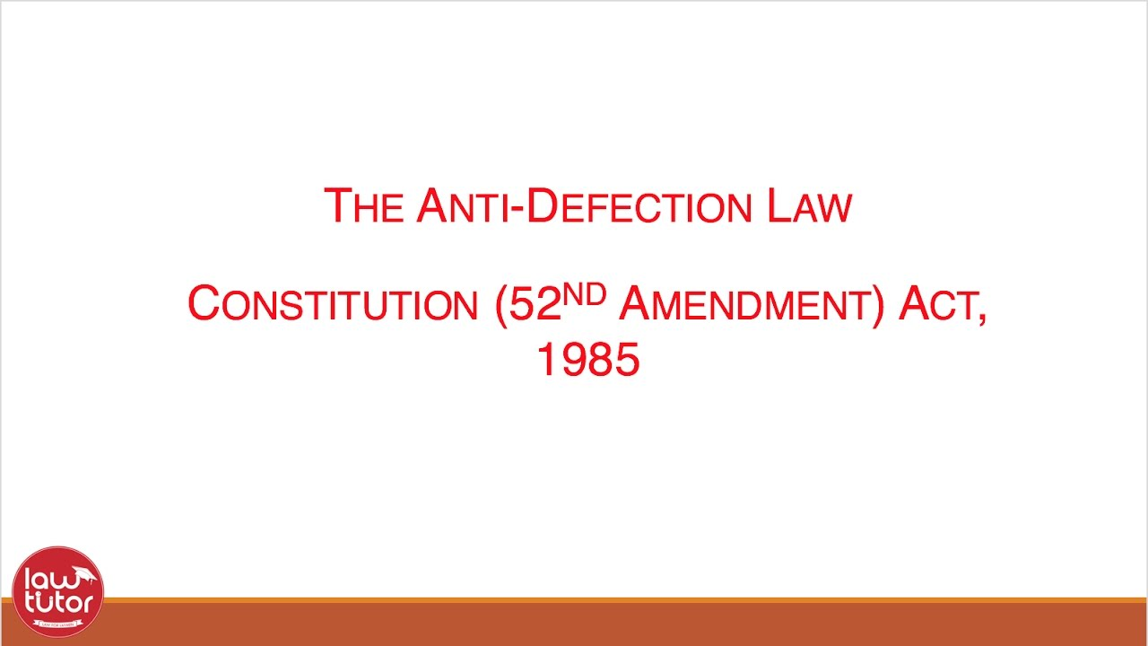 anti defection The anti-defection bill, which penalises floor crossing, was passed with the votes of 36 mps while an amendment bill to the judges act was passed with 38 votes both bills were proposed by the ruling party.