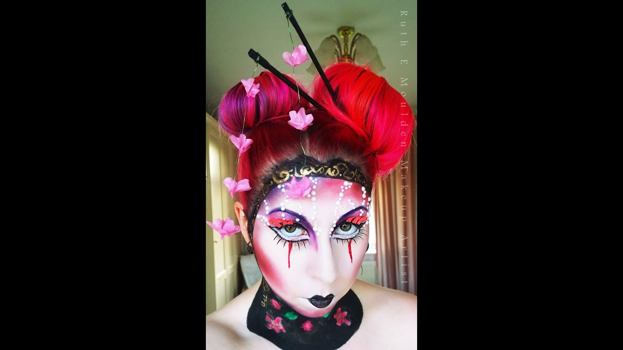 Avant Garde Geisha Doll Hair Tutorial - YouTube