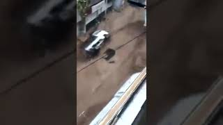 Сирия. 26.04.2018. Селевой поток в квартал Рукн-эд-Дин города Дамаск. Накануне был проливной дождь