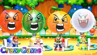 Mario Party 10 Minigames Luigi vs Mario vs Peach vs Daisy Master