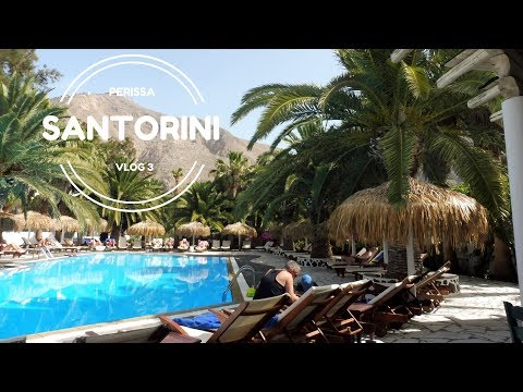 Santorini Vlog | Day 3 | Meltemi Village - Perissa (2nd accommodation) l Oia/Perissa/Sea Swimming