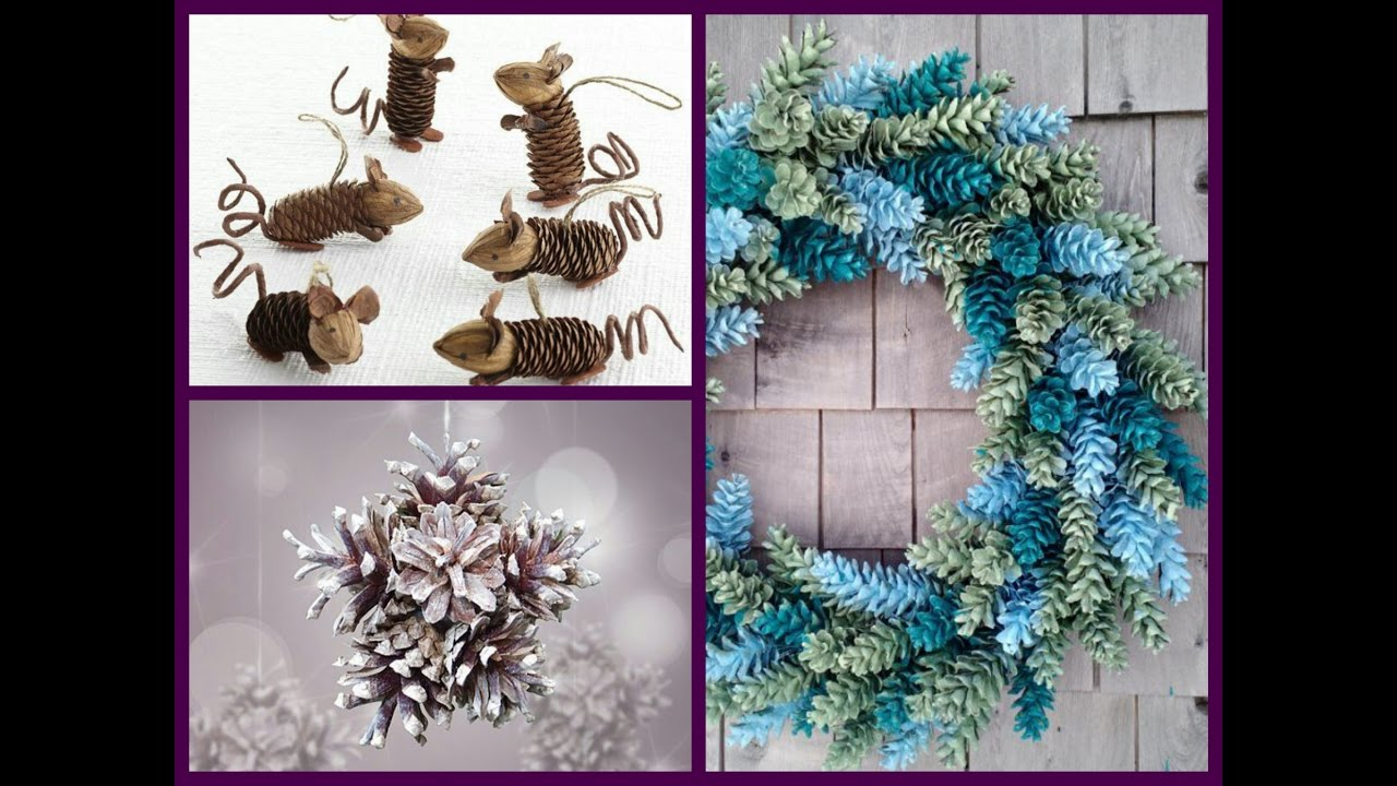 Pine Cone Christmas Ornaments To Make.Pine Cone Crafts Ideas Diy Cone Decor Ideas