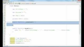PHP - Classes and Object Instantiation - Part 1
