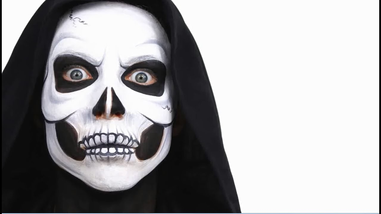Tuto maquillage halloween la grande faucheuse la mort youtube - Maquillage halloween facile garcon ...